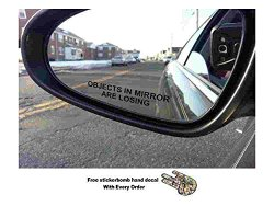 Objects in Mirror are Losing Decal BLACK Etched Glass Funny Sticker Come With Free stickerbomb hand decal
