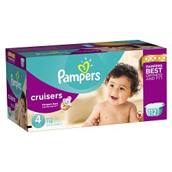 Pampers Cruisers Diapers Size 4 Giant Pack 112 Count