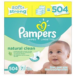 Pampers Natural Clean Wipes 7x Box 504 Count