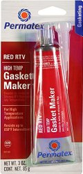 Permatex 81160 High-Temp Red RTV Silicone Gasket, 3 oz.