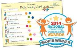 Potty Training Chart – The Ultimate Potty Training Reward Chart – Award Winning 2014 National Parenting Award