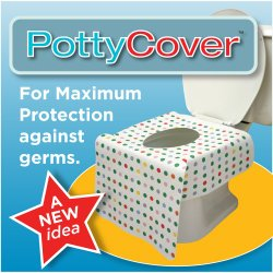 PottyCover – Disposable toilet seat covers. (6 individually packaged seat covers in each bag.)