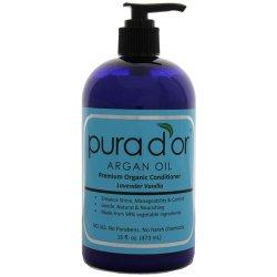 pura d'or Premium Organic Argan Oil Hair Conditioner, 16 Ounce