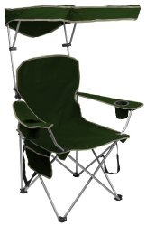 Quik Shade Fully Adjustable Folding Chair with Carrying Bag Forest Green