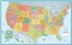 Rand Mcnally Us Wall Map