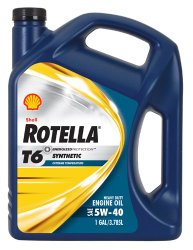 Rotella 550019921-3PK T6 5W-40 Full Synthetic Heavy Duty Diesel Engine Oil (CJ-4) – 1 Gallon Jug Pack of 3