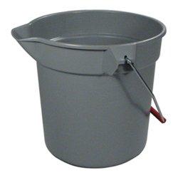 Rubbermaid Commercial FG296300GRAY Brute HDPE Heavy-Duty Bucket