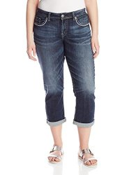 How much does Silver Jeans Junior's Plus-Size Suki Mid Capri Jean ...
