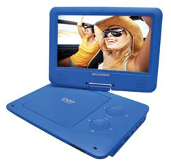Sylvania 9-Inch Swivel Screen Portable DVD/CD/MP3 Player with 5 Hour Built-In Rechargeable Battery