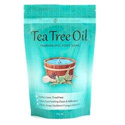 Tea Tree Oil Foot Soak With Epsom Salt, Helps Treat Nail Fungus  16oz