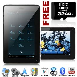 Unlocked! GSM 7-in Android 4.0 ICS Smart Cell Phone + Tablet PC w/ Google Play Store 2-in-1 Phablet