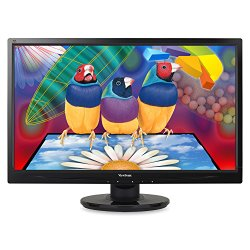 ViewSonic VA2446M-LED 24-Inch LED-Lit LCD Monitor, Full HD 1080p, DVI/VGA, Speakers, VESA