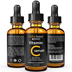 VITAMIN C Serum for Face 2 Oz – 20% Organic Vitamin C + E + Hyaluronic Acid