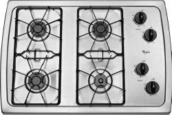 Whirlpool W3CG3014XS 30″ Stainless Steel Gas Sealed Burner Cooktop