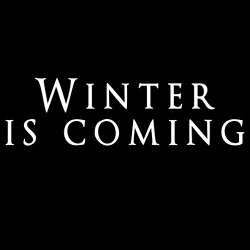 Winter is Coming 8″ White Vinyl Decal – Luna Graphic Designs
