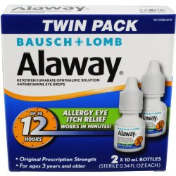 Alaway Antihistamine Eye Drops, 0.34 Ounces, 2 Count