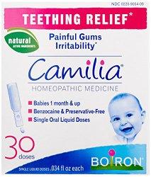 Boiron Camilia Teething Relief, 30 Count (0.034 fl oz each)