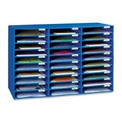 Classroom Keepers 30 Slot Mailbox, Blue