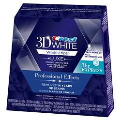 Crest 3D White Luxe Whitestrips Professional Effects 20 Treatments + 3D White Whitestrips 1 Hour Express 2 Treatments – Teeth Whitening Kit