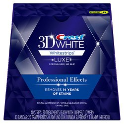 Crest 3D White Luxe Whitestrips Professional Effects – Teeth Whitening Kit 20 Treatments