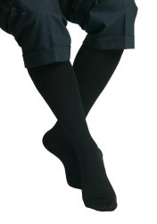 Maxar Graduated Compression Travel Socks, Microfiber, Black, 2XL, Unisex (10-15 mmHg)