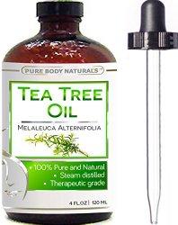 Organic Tea Tree Oil Australia – Huge Premium Quality 4 Oz 100% Natural & Pure Tea Tree Essential Oil