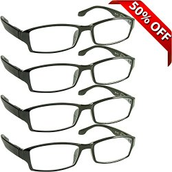 Reading Glasses – Best 4 Pack of Readers – Crystal Clear Vision Everywhere You Need It!