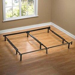 Sleep Revolution Compack Adjustable Steel Bed Frame, Fits Full to King