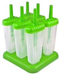 Tovolo Groovy Ice Pop Molds, Spring Green – Set of 6