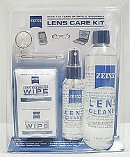 Zeiss Lens Care Kit – 8oz Lens Cleaner Refill, 2oz Refillable Lens Cleaner Spray, 2 Microfiber Cloth, 10 Individually Wrapped Cleaning Wipes, Keychain Screwdriver, 4 Screws