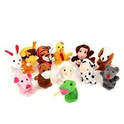 Finger Puppets Finger toys, Danibos 12pcs Velvet Small animal in garden Baby Stories Helper