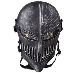 Tech-p Death Skull Face Mask – Protective Mask Gear for Use As Tactical Mask