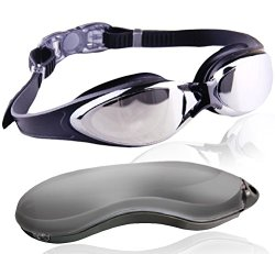 Best Rated 2 in 1 Adult Performance Swim Goggles On Amazon With Complimentary Protection Case