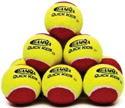 Gamma Quick Kids 36′ Tennis Ball (12-Ball Pack, Yellow/Red)