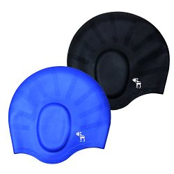 The Friendly Swede Silicone Long Hair Swim Caps (2 Pack)