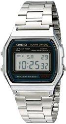 Casio Men's A158W-1 Stainless Steel Digital Watch