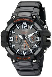 Casio Men's MCW-100H-1AVCF Heavy Duty Design Stainless Steel Watch with Black Silicone Band