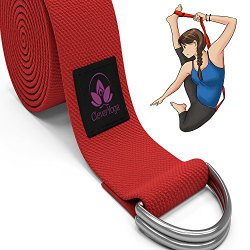 Clever Yoga Strap 8FT or 10FT Made With The Best, Durable Cotton