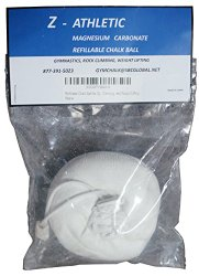 Z-Athletic Refillable Chalk Ball for Gymnastics, Climbing, and Weight Lifting