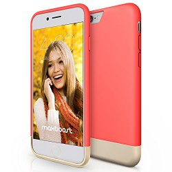 iPhone 6 Case, Maxboost [Vibrance Series] – Italian Rose/Champagne Gold