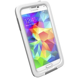 Lifeproof Fre Case for Galaxy S5 – Retail Packaging – White/Clear/Gray