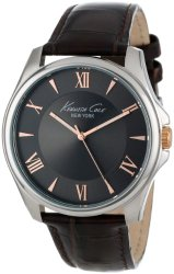 Kenneth Cole New York Men's KC1995 Classic Grey Dial Rose Gold Details Analog Watch
