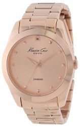 Kenneth Cole New York Women's KC4950 Rock Out Rose Gold Dial Diamond Dial Bracelet Watch