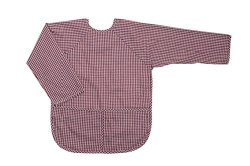 FIT RITE Long-Sleeve Artist Smock for Kid & Toddler (Burgundy, X Large 6-8 Years)