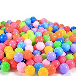 Honory 100pcs Colorful Ball Fun Ball Soft Plastic Ocean Ball Baby Kid Toy Swim Pit Toy