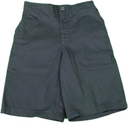 Kids Headquarters Boys Size 5 Elastic Waist Four-Pocket Flat Front Short, Navy