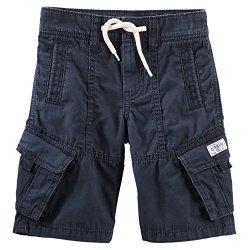 OshKosh B'gosh Little Boys' Modern Cargo Shorts – Navy – 4 Youth
