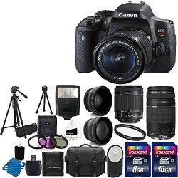 Canon EOS Rebel T6i 24.2MP Digital SLR Camera USA warranty with Canon EF-S 18-55mm