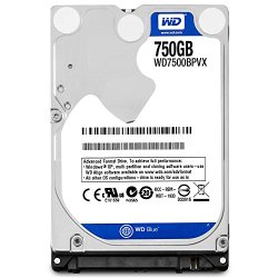 Western Digital Bare Drives 750GB WD Blue SATA III 5400 RPM 8 MB Cache Bulk/OEM Notebook Hard Drive WD7500BPVX