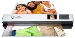 ClearClick Photo & Document Scanner with 1.45″ Preview LCD, 4 GB Memory Card, & OCR Software